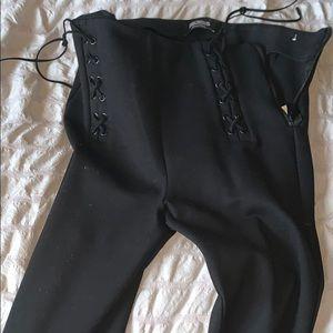 Zara lace up leggings
